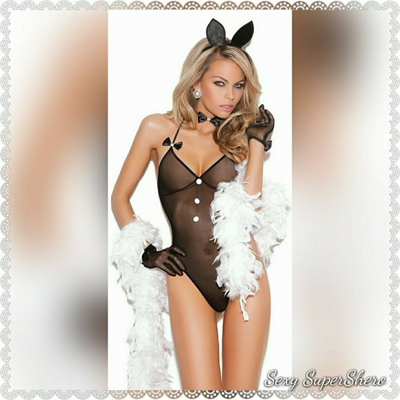 46a13f87ee Bunny Playsuit Sexy Lingerie Set Love costume